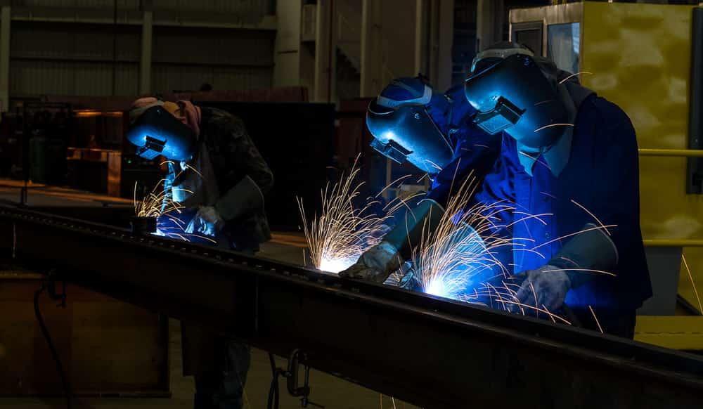 Industrial Welders sent from a Welders Union