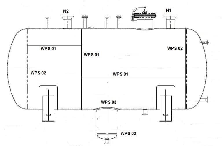 Weld Map of a Pressure Vessel